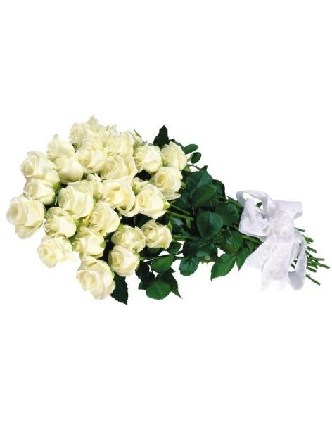 Bouquet of 15 white roses: delivery of flowers in
