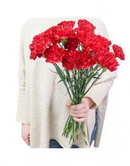 Bouquet of 25 red dianthus | Gerbera,alstroemerias,carnations to colleague flowers
