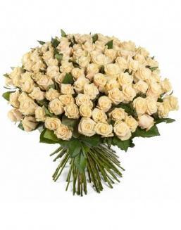 Bouquet of 51 cream roses | Delivery and order flowers in Almaty
