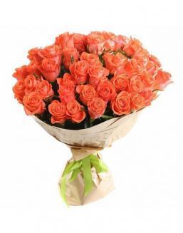 Bouquet of 51 carrot roses | Delivery and order flowers in Almaty