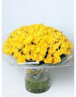 Bouquet of 101 yellow rose bushes | 101 roses expensive flowers