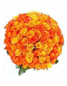 Bouquet 101 carrot roses | 101 roses expensive flowers