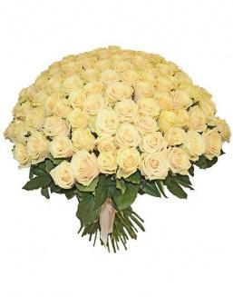 Bouquet 101 cream roses | 101 roses expensive flowers