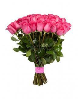 Bouquet of 15 pink Dutch roses | Delivery and order flowers in Almaty