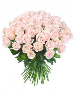 Bouquet of 51 pink Dutch roses | Flowers for Birthday flowers