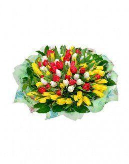 Mix bouquet 101 tulips | Flowers for Birthday flowers