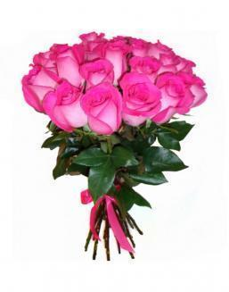 21 high elite pink roses | Delivery and order flowers in Almaty
