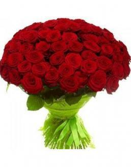 77 high elite red roses | Delivery and order flowers in Almaty