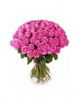 77 high elite pink roses | Flowers for Birthday flowers