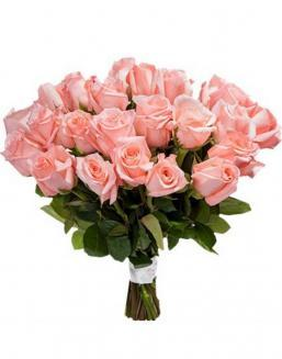 Bouquet of 33 pink roses | Pink roses on Valentine's Day flowers