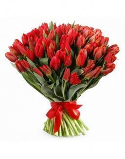 Bouquet 201 red tulips | Flowers for Birthday flowers