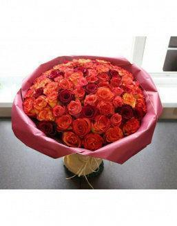 Love flame | 101 roses expensive flowers