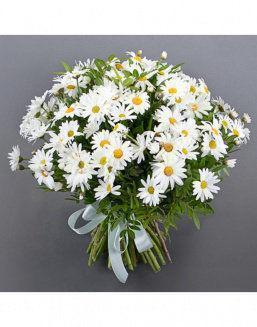 Букет ромашки алматы, заказать цветы из пряжи вязать крючком