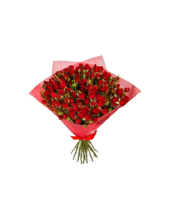 4Bouquet of 15 red spray roses
